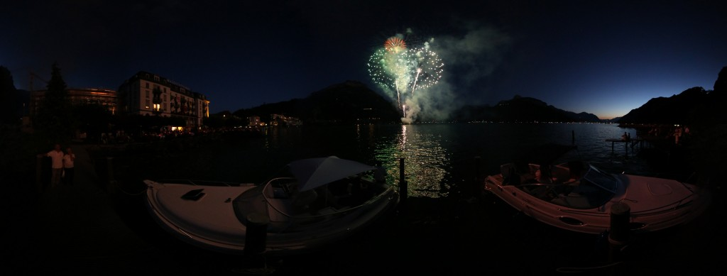 1. August Fireworks above Brunnen, Switzerland