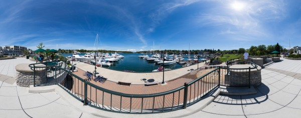 Charlevoix Harbor and Round Lake